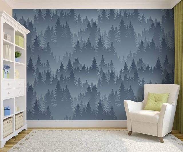 Pickawall removable wall murals are the perfect mess and stress-free way to decorate for your new arrival. Just pick a print, measure your wall, order and apply. Pictured- 'Mountains forest pattern' wallpaper. @pickawall. . . . . . #printyourpassion #wallpaper #muralbespoke #wallmural #likeitprintit #inspire #printyourpicture #pickawall #wallpaper #wallmurals #walldecor #instadesign #InteriorStyling #interiordesigner #ModernWallpaper #ModernLiving #DIYWallpaperAndMurals #DIY #HomeInspo…