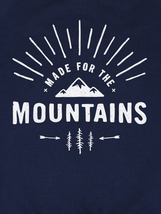 Made For The Mountains Graphic jumper print