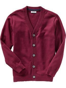 Boys Uniform Cardigans   Old Navy - Size L - Wine Stain color - $17.00