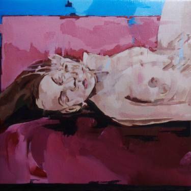"Saatchi Art Artist joao teixeira; Painting, ""Figure on bed"" #art"