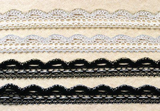 Flower lace / 1meter      Lace ini digunakan untuk membuat hiasan bunga, biasa dipakai di baju, tas, atau kartu undangan, maupun hiasan fashion lainnya. #ID1175