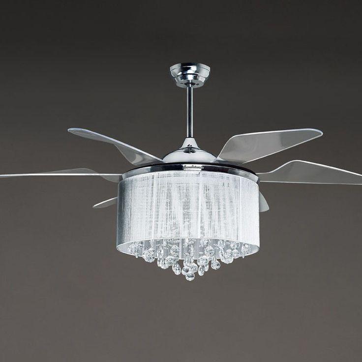 35 best chandelier ceiling fans images on pinterest chandeliers chandelier ceiling fans and for Ceiling fan or chandelier in master bedroom