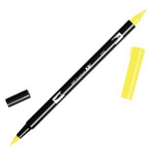 Feutre Tombow Dual Brush - Feutre pinceau double pointe Process Yellow ABT-055 : Après les