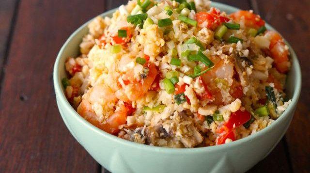 Paleo Fried Cauli Rice.
