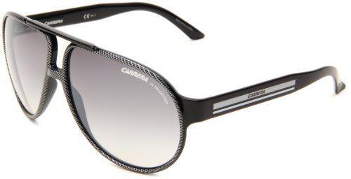 Carrera Forever Mine/R/S Aviator Sunglasses,Black, Silver & Shiny Black Frame/Grey Mirror Gradient & Silver Lens,One Size Carrera. $96.99. Save 35% Off!
