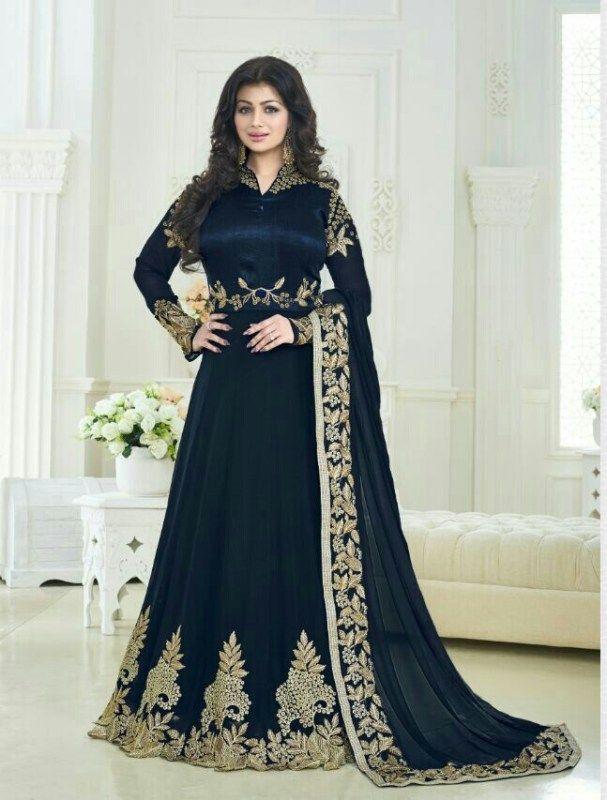 Indian Pakistan Wedding Style Partywear designer Blue volono Sami-Steatiched Salwar suit-FC-5161 | | Faminacreation