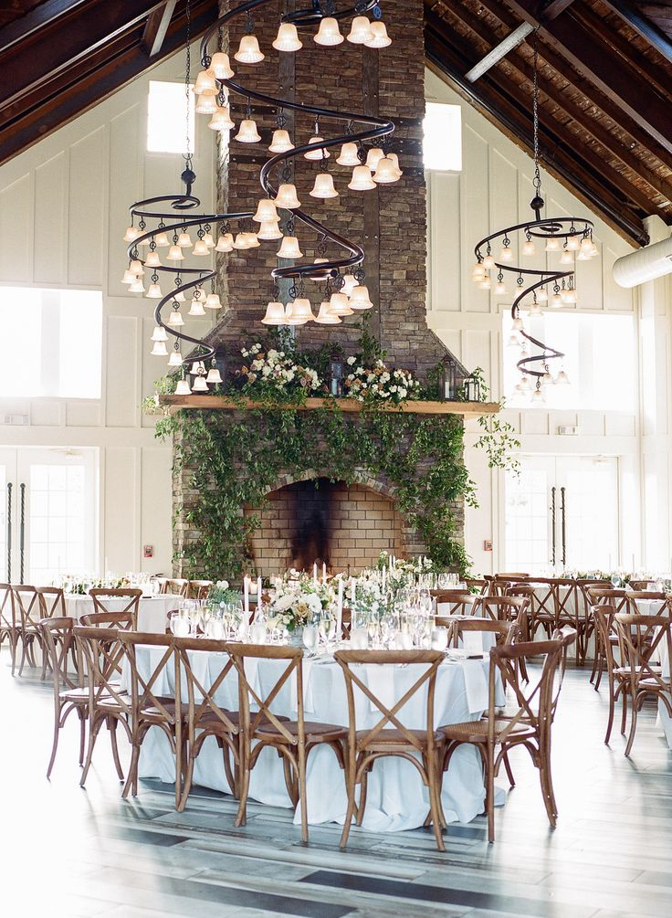 The Ryland Inn Coach House Wedding Wedding fireplace