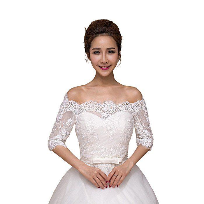 Erosebridal ボレロ ショール 結婚式 ウエディング フォーマル ドレス用 花嫁 ケープ 肩掛け マント