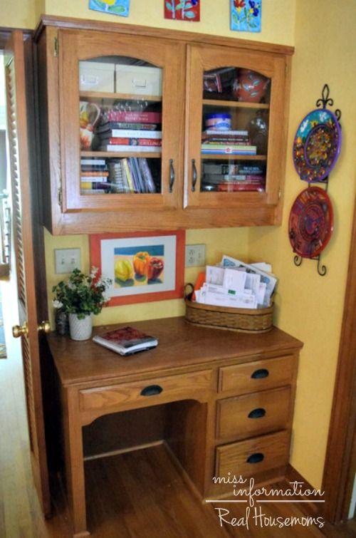 Kitchen Desk Organization