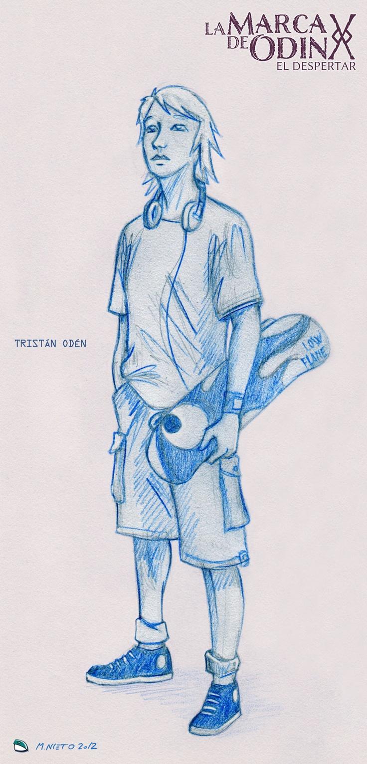 Arte conceptual de Tristán, uno de los personajes de @lamarcadeodin