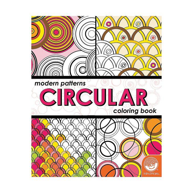 MindWareR Modern Patterns Circular Adult Coloring Book