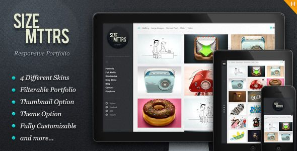 Size Mttrs - Responsive Portfolio - ThemeForest Item for Sale