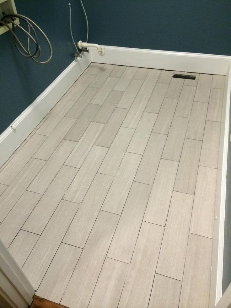 Finally A Floor Part 2 Herringbone Laundry Room Tile