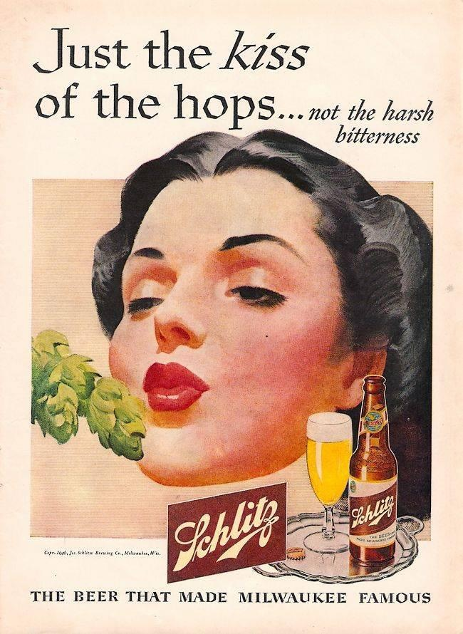 Vintage advertisement for Schlitz Beer from Milwaukee.