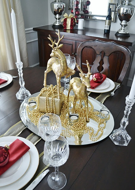Christmas centerpieces and reindeer on pinterest