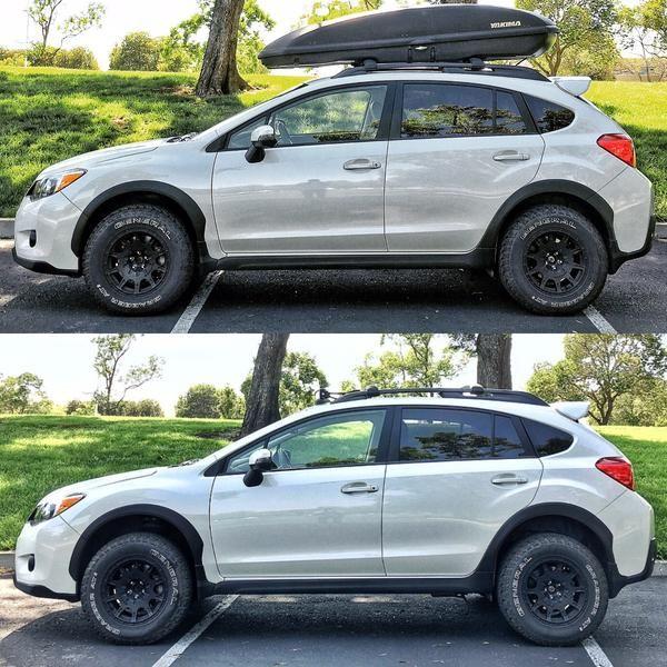 "Brand:SubaruModel:CrosstrekYear:2015Color:Satin White Pearl    Modifications:  Lift kit: 1.5"" LP Aventure lift kitTires:General Grabber AT2 225/70/15 Wheels:Method Racing WheelsMR502 VT-Spec 15x7 +15Bike rack:Yakima Hold Up 2LED bar:Auxbeam cu http://budgetmotorsports.com/shop/"