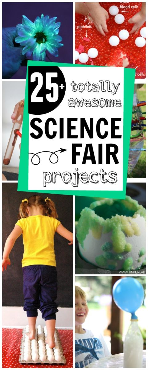More than 25 totally awesome Science Fair Projects - your kid will be the coolest kid in school with these- too fun!