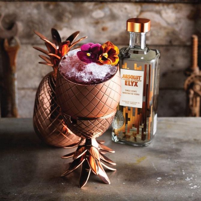 The Absolut Elyx Copper Pineapple Is Much More Than A Strong Drink