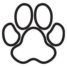 brown paw print cut and lay out...