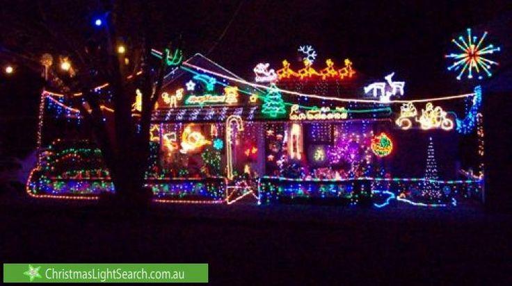 Christmas lights in Berala, NSW, Australia.