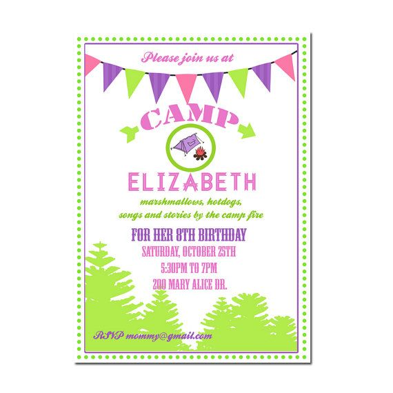 the 25+ best camping party invitations ideas on pinterest, Party invitations