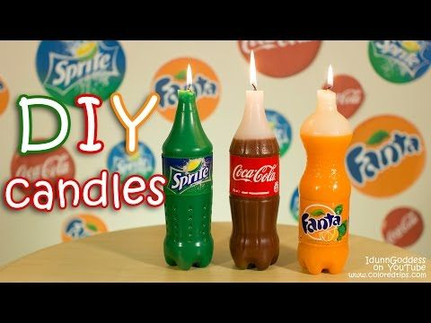How To Make Coca-Cola, Fanta and Sprite Candles DIY - YouTube