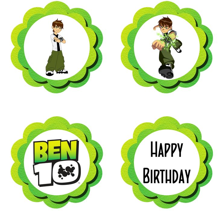 50 best cupcakes ben 10 images on pinterest ben 10 omniverse ben 10 cupcake toppers free pdf download voltagebd Image collections