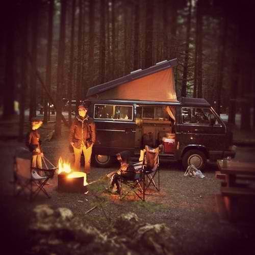 Van camping- looks like so much fun!