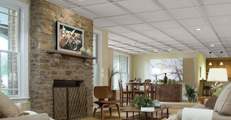Love Your Dropped Ceilings Again with StyleStix Suspended Ceiling Grid Moldings