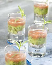 Recept » Colruyt Culinair (driekleurig glaasje met avocado)
