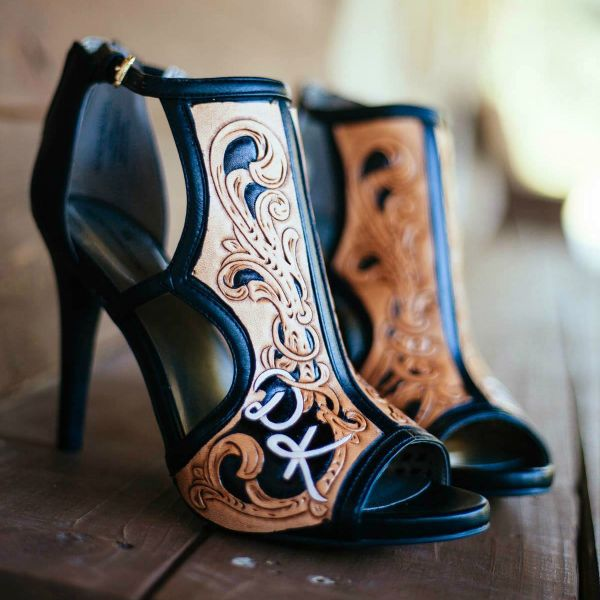 Tooled Leather for the High Heeled Woman. We don't sell them but somebody does.