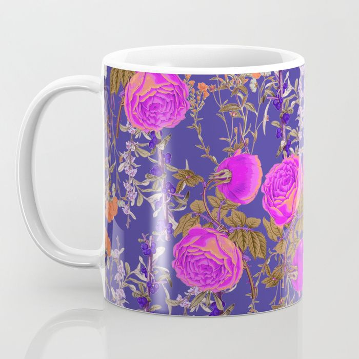 Vibrant Botanic (Blue) Coffee Mug
