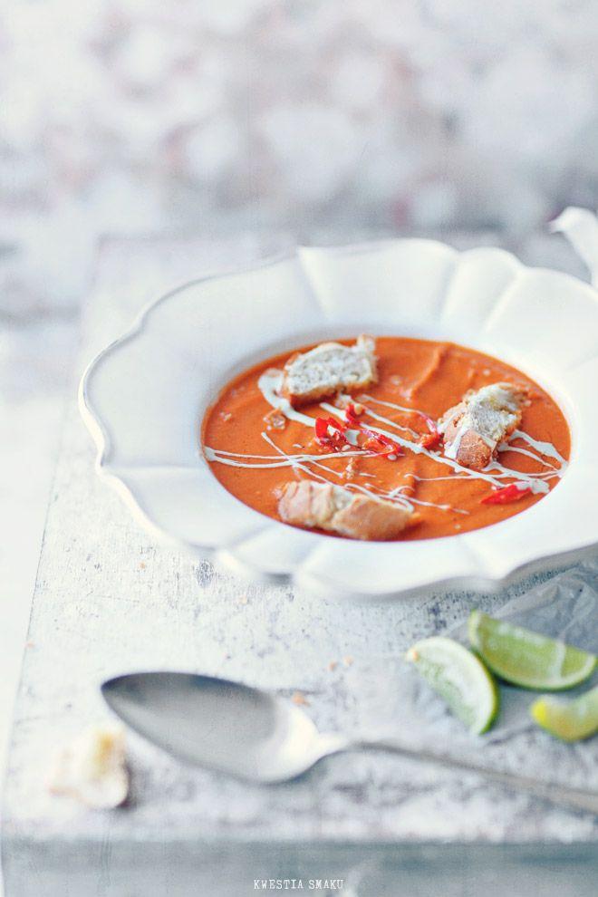 Zupa krem z ciecierzycy - Przepis  Cream of Chickpeas and Tomato Soup (recipe in Polish)