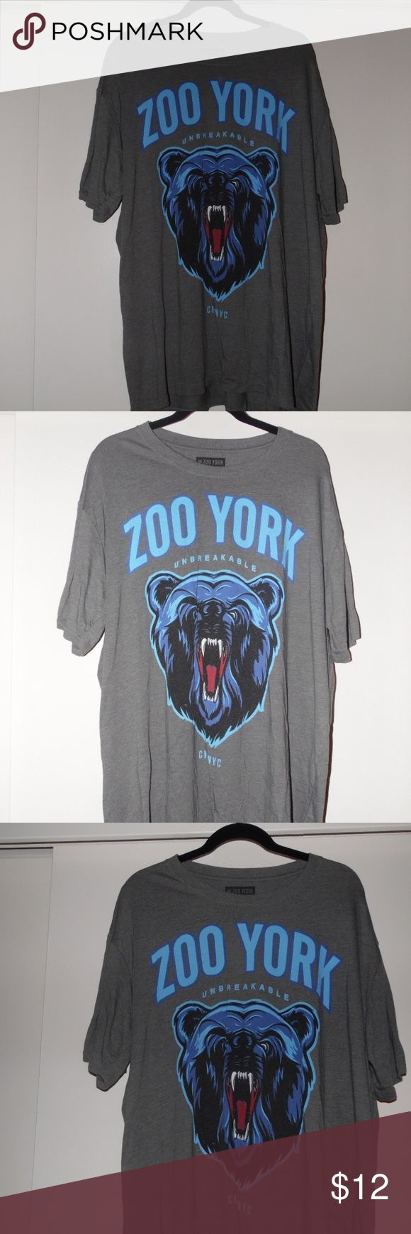 Zoo York T-Shirt Great condition Grey Zoo York PacSun Top. Material is 60% cotton & 40% polyester. PacSun Shirts