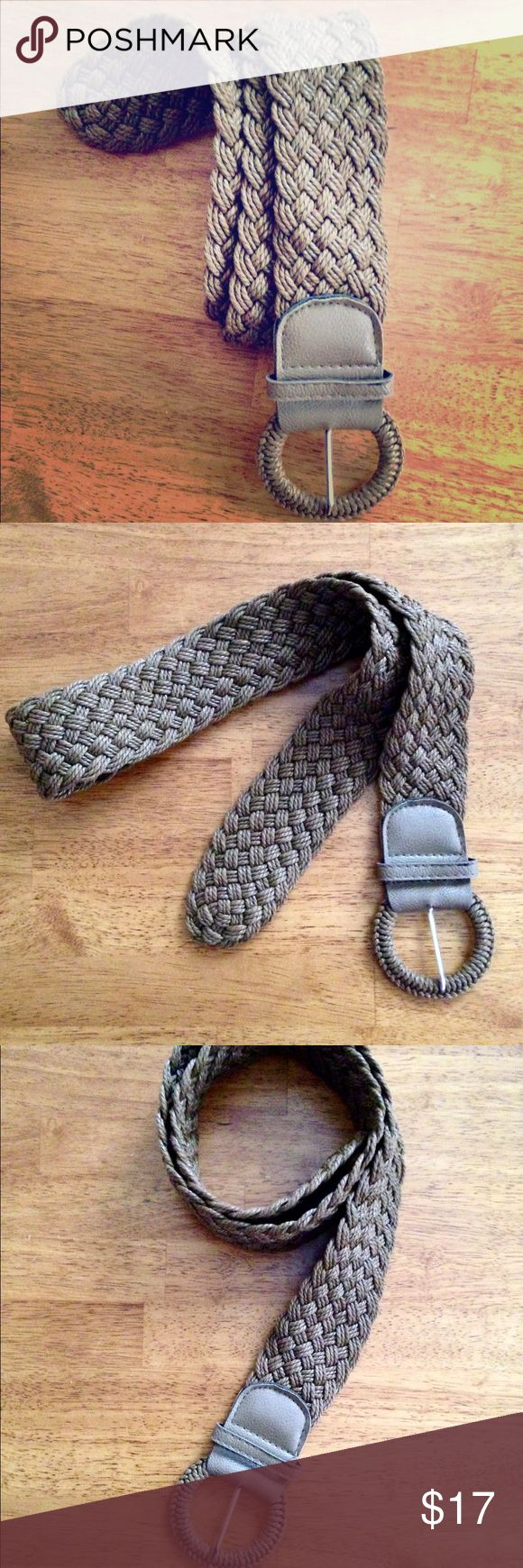 NWOT • Brown Braided Thick Buckle Belt Brown Braided Thick Buckle Belt • NEVER WORN • BRAND NEW WITHOUT TAGS • Beautiful belt ✨🎉EXCELLENT CONDITION🎉✨ Accessories Belts