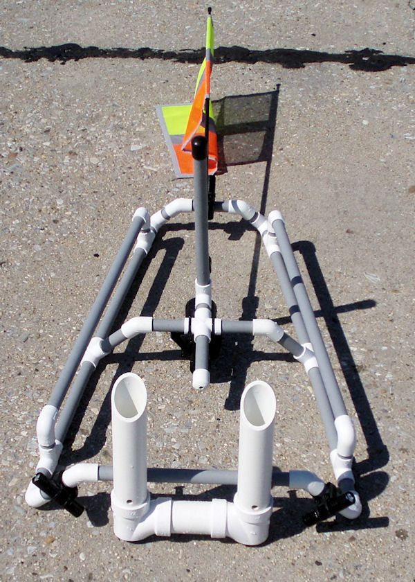 Buiding a kai rack for kayak kayak fishing pinterest for Kayak accessories for fishing