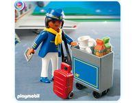 Playmobil 4761 Flugbegleiterin mit Servicewagen #Ciao