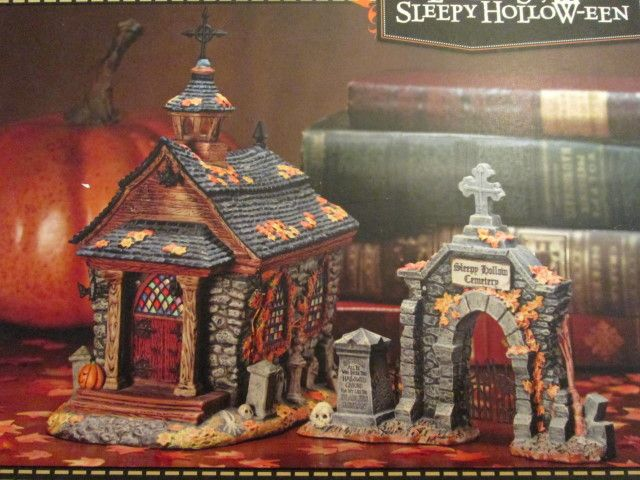 halloween village display dept 56 sleepy hollow een