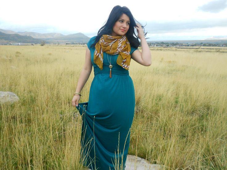 Modest Blue maxi Dress www.sexymodest.com