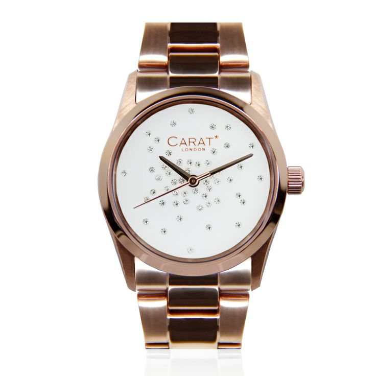 Chelsea Rose White  #caratlondon #jewellery #rosegold #watch