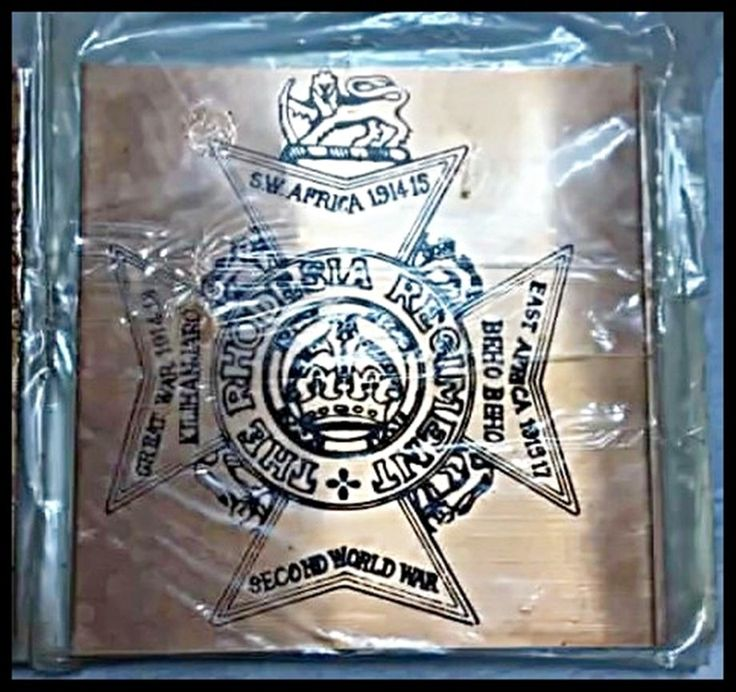 Very Rare, Vintage. Rhodesia Regiment, Unopened Copper Coasters x 6.