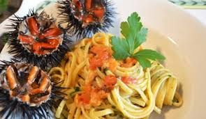 Even if apparently it could seem disgusting, sea urchin are delicious expecially with pasta! http://www.salentourist.it/costa-ionica-salentina.aspx#results