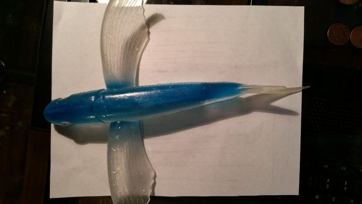 Plastic Trolling Lure Flying Fish Saltwater Lure Fishing Billfish Tuna Wahoo #DEKATackle