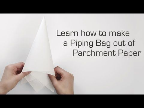 Learn How To Fold A Parchment Bag For Piping Youtube
