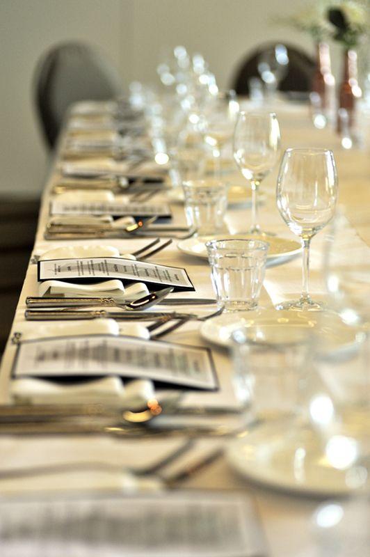 Table setting Boschvijver Restaurant