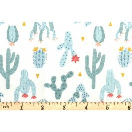 Lewis and Irene - Paracas - Cactus - Desert Blue (A202.1)