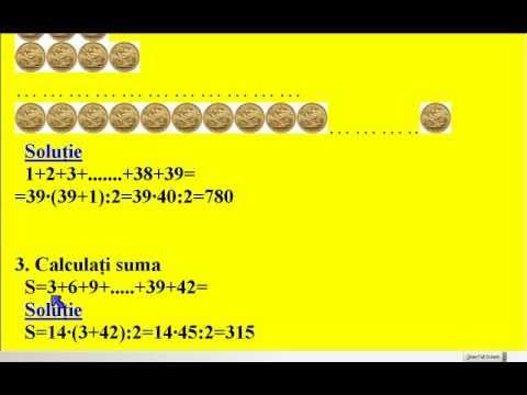 Sume Gauss - exercitii - YouTube
