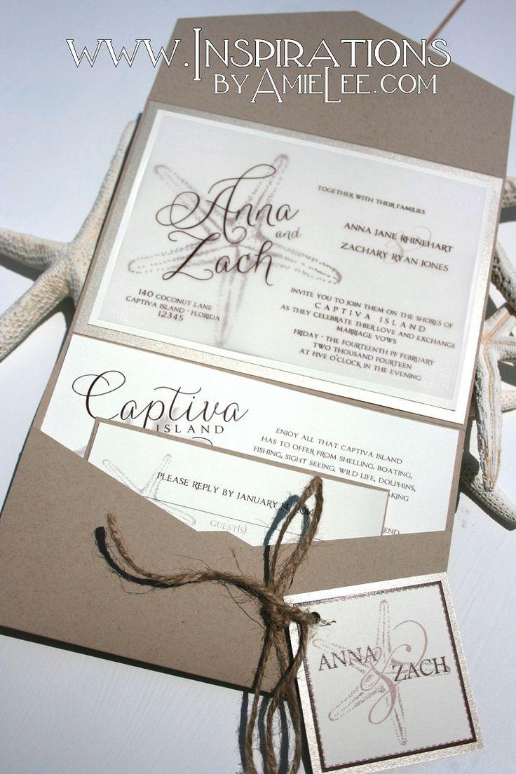 Rustieke strand bruiloft uitnodigingen bruiloft