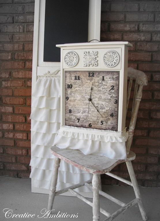 old drawerChic Clocks, Drawers Turn, Crafts Ideas, Old Drawers, Drawers Clocks, Creative Ambition, Beautiful Clocks, Shabby Chic, Drawers Ideas