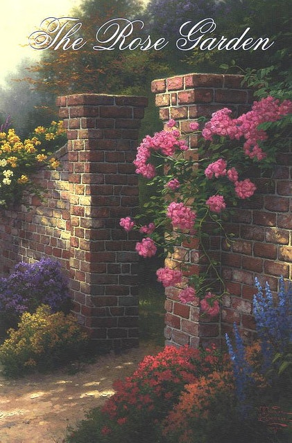 Thomas Kinkade This picture is on the front cover of the Thomas Kinkade Reflections Bible I have.